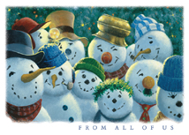 Snowmen Committee Christmas Greeting Cards